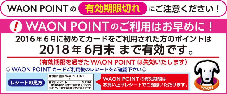 WAONPOINT有効期限告知