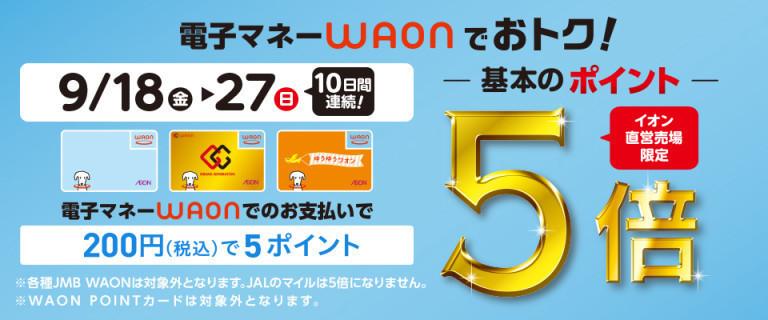 【イオン直営売り場限定】 WAON基本のポイント5倍!
