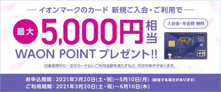 イオンカード ~新規ご入会・ご利用キャンペーン~