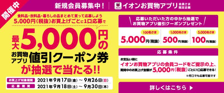 【お買物アプリ限定】値引きクーポンが抽選で当たる!!