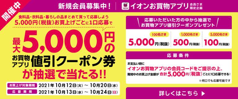 【お買物アプリ】値引きクーポンが抽選で当たる!!